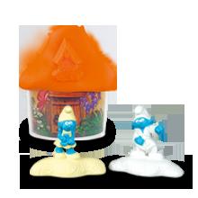 Оранжевый домик со Смурфиками